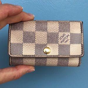 Louis Vuitton Damier Azur Keyholder Wallet (Auth.)